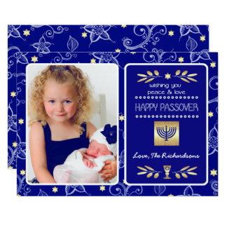 """Passover feliz. Tarjetas adaptables de la foto Invitación 5"""" X 7"""""""