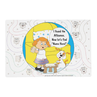 Passover Girl Placemat 2 sided Personalize