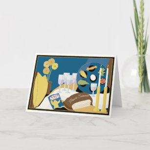 Passover cards greeting photo cards zazzle passover greeting card passover seder dinner m4hsunfo