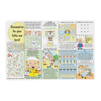 Passover Haggadah Laminated 2-Sided Placemat