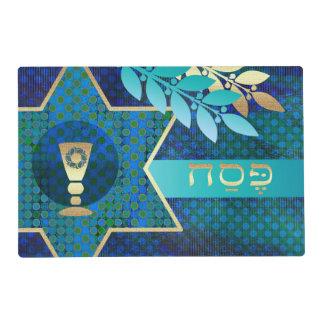 Passover hebreo Seder Placemats del texto de Salvamanteles
