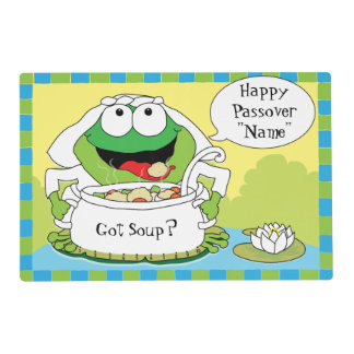 "Passover Laminated Placemat ""Frogs Rhyme"""