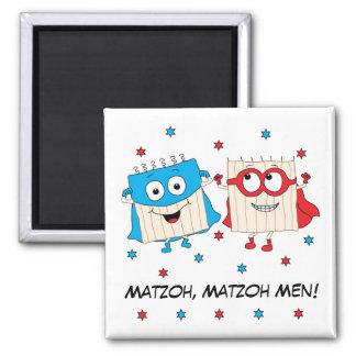 """Passover Magnet Square """"Matzoh Men"""""""