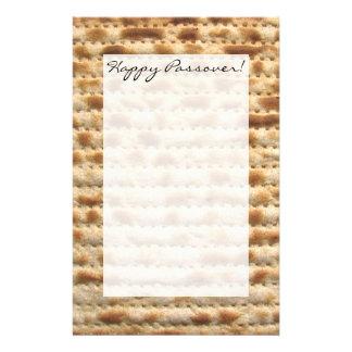 Passover matzah writing paper personalized stationery
