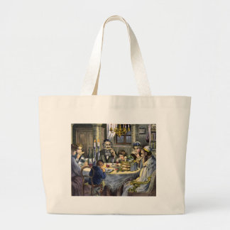 passover meal large tote bag