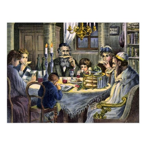 passover meal postcard