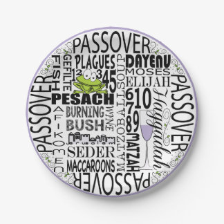 """Passover Paper Plate """"Dayenu and more..."""" Pattern"""
