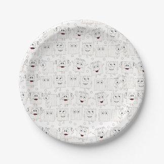 Passover Paper Plate Matzah Pattern