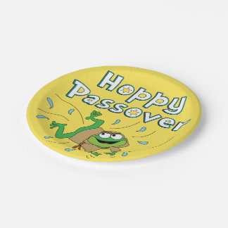 "Passover Paper Plates ""Hoppy Passover"""