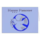 Passover Pesach Greeting Shalom Jewish Hebrew Star Card