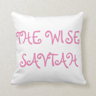 """PASSOVER PESACH SEDER PILLOW """"THE WISE SAVTAH"""""""