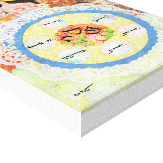 Passover, Pesach, Seder Plate, Jewish Art Gift Canvas Print