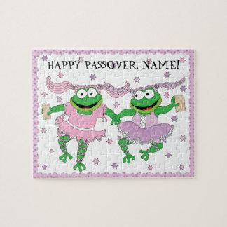 "Passover Puzzle ""TuTu Cute Frogs with Matzah!"""
