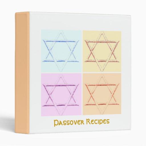 Passover Recipes Binder