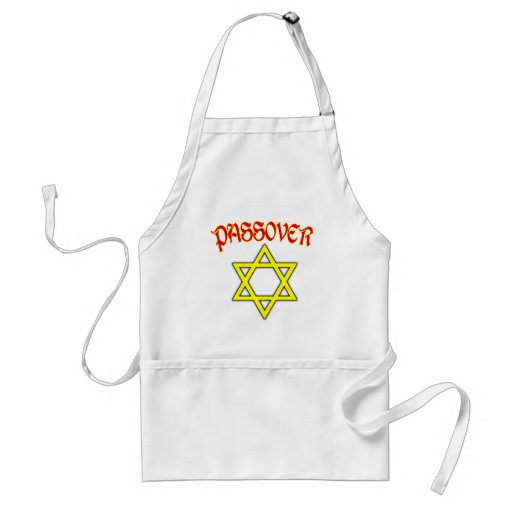 Passover Red, Black & Gold Apron