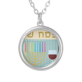 passover round pendant necklace