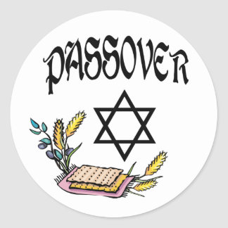 Passover Round Stickers