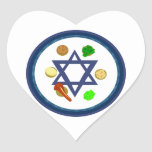 Passover Seder Plate Heart Sticker