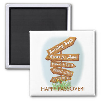 "Passover Square Magnet ""Signs of that Time"""