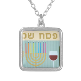 passover square pendant necklace