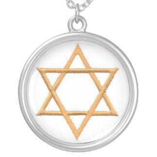 Passover Star of David Round Pendant Necklace