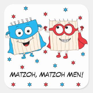 """Passover Sticker Square """"Matzoh, Matzoh Men!"""""""