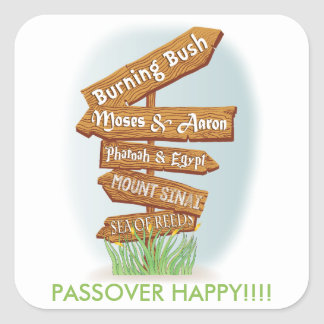 """Passover Sticker Square """"Signs of that Time"""""""