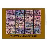 Passover - tarjeta positiva jídish de las frases