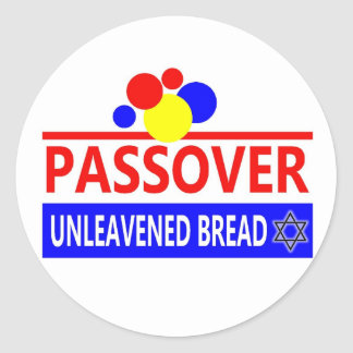 Passover Unleavened Bread Round Stickers