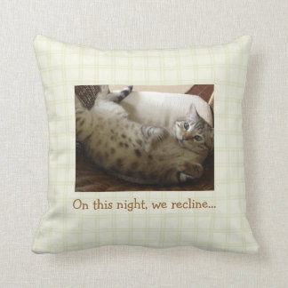 Passover We Recline Throw Pillow