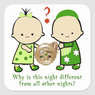 Passover Why Is This Night Stickers