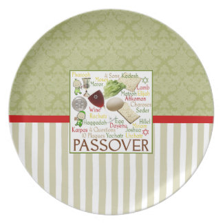 Passover Words Seder Plate