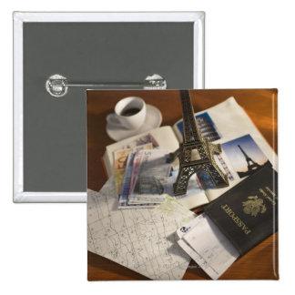 Passport and memorabilia pin