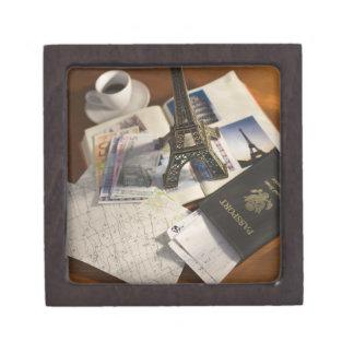 Passport and memorabilia jewelry box