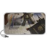 Passport and memorabilia laptop speaker