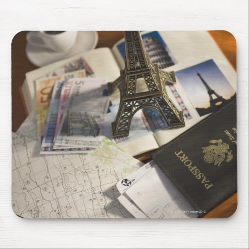 Passport and memorabilia mouse pad
