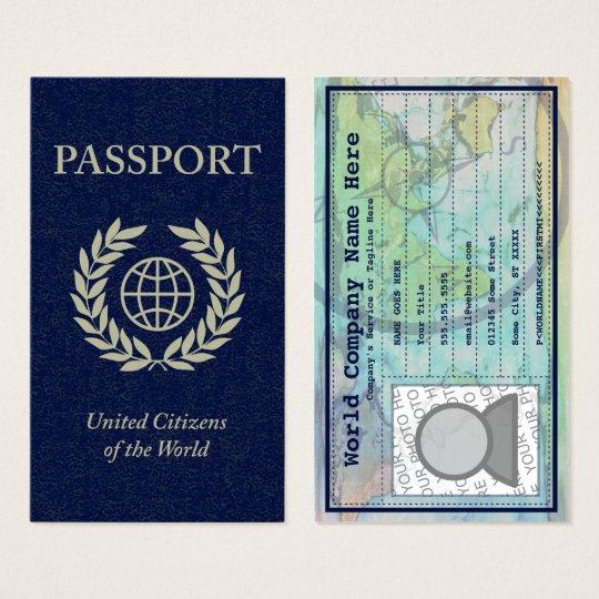 Passport business card zazzle passport business card colourmoves