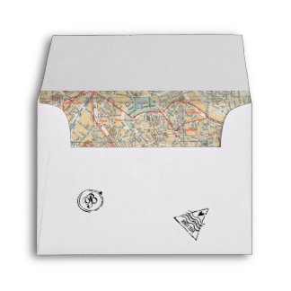 Passport Envelope with Stamps & Map