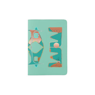 Passport Holder with Abstract Design