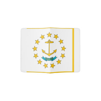 Passport Holder with flag of Rhode Island, USA