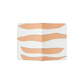 Passport Holder with Orange Stripes