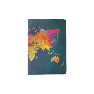 Passport Holders & Covers world map
