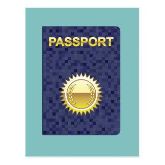 Passport Icon Postcard