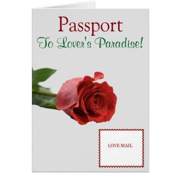 "Beach Themed Passport Invitation Card 5.6"" x 4"