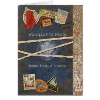 Passport Invitation Stationery Note Card