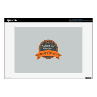 """Passport Stamp Collector Decal For 13"""" Laptop"""
