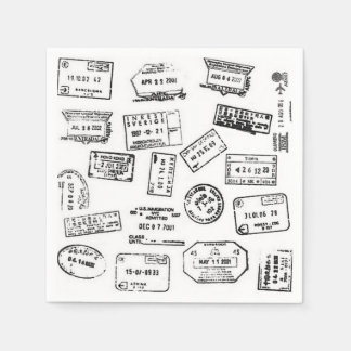 Passport Stamp Napkins