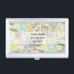 "Passport Stamp Print Business Card Holder<br><div class=""desc""></div>"
