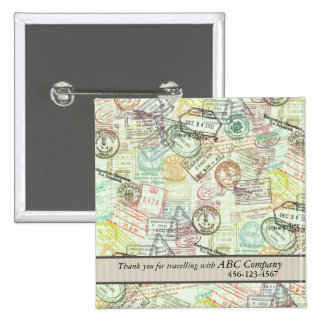 Passport Stamp Print Button