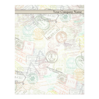 Passport Stamp Print Letterhead